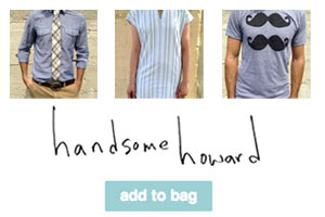 Handsome Howard Website Storefront