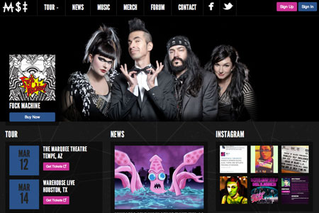 Mindless Self Indulgence Website Redesign